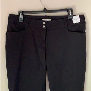 Adidas  black Capri pants. NWT Size 10
